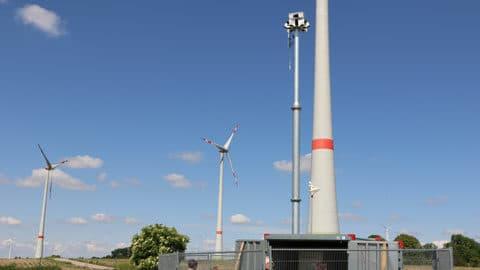 Identiflight-System in einem Windpark.