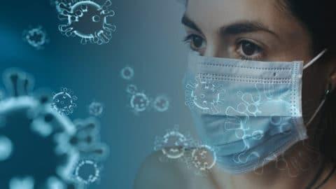 Frau mit Schutzmaske | Coronavirus