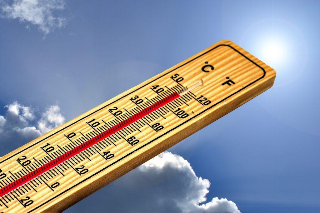 Thermometer auf 45 Grad Celsius